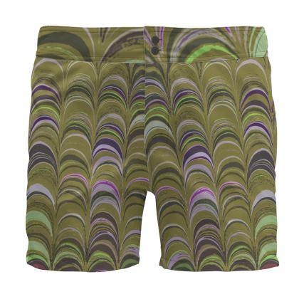 Board Shorts - Around Ex Libris Yellow Remix (1800 -1950)
