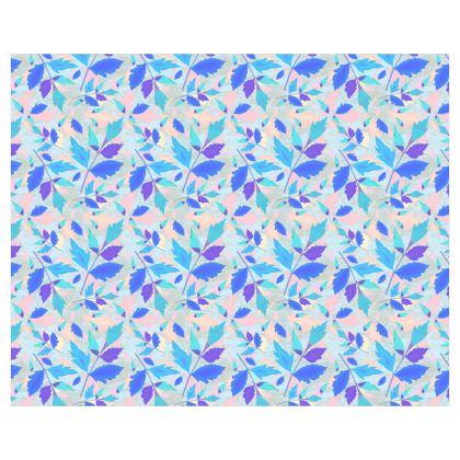 Roller Blinds Blue, Pink [110 cm x 137 cm]   Cathedral Leaves
