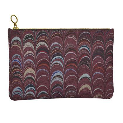 Leather Clutch Bag - Around Ex Libris Remix (1800 -1950)