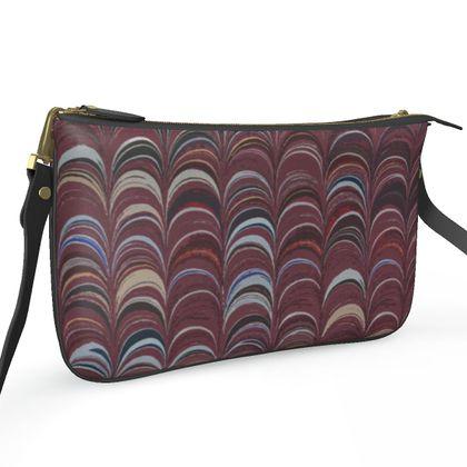 Pochette Double Zip Bag - Around Ex Libris Remix (1800 -1950)