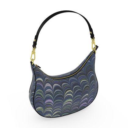 Curve Hobo Bag - Around Ex Libris Blue Remix (1800 -1950)