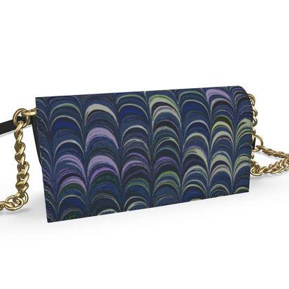 Oana Evening Bag - Around Ex Libris Blue Remix (1800 -1950)