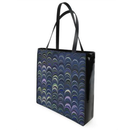 Shopper Bags - Around Ex Libris Blue Remix (1800 -1950)