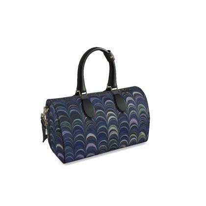 Small Duffle Bag - Around Ex Libris Blue Remix (1800 -1950)