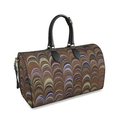 Large Duffle Bag - Around Ex Libris Brown Remix (1800 -1950)