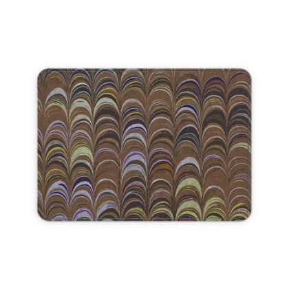 Leather Card Case - Around Ex Libris Brown Remix (1800 -1950)