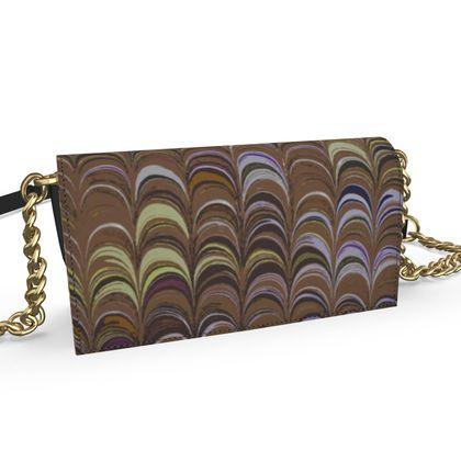 Oana Evening Bag - Around Ex Libris Brown Remix (1800 -1950)