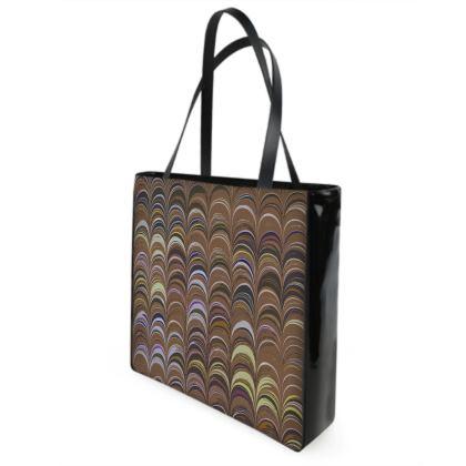 Shopper Bags - Around Ex Libris Brown Remix (1800 -1950)