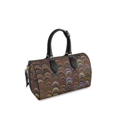 Small Duffle Bag - Around Ex Libris Brown Remix (1800 -1950)