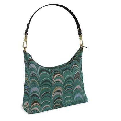 Square Hobo Bag - Around Ex Libris Jade Remix (1800 -1950)