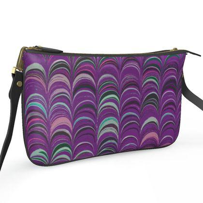 Pochette Double Zip Bag - Around Ex Libris Pink Remix (1800 -1950)