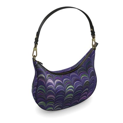 Curve Hobo Bag - Around Ex Libris Purple Remix (1800 -1950)