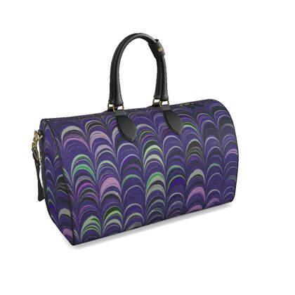 Large Duffle Bag - Around Ex Libris Purple Remix (1800 -1950)