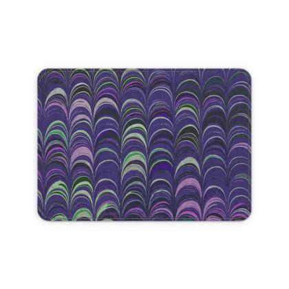 Leather Card Case - Around Ex Libris Purple Remix (1800 -1950)