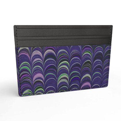 Leather Card Holder - Around Ex Libris Purple Remix (1800 -1950)