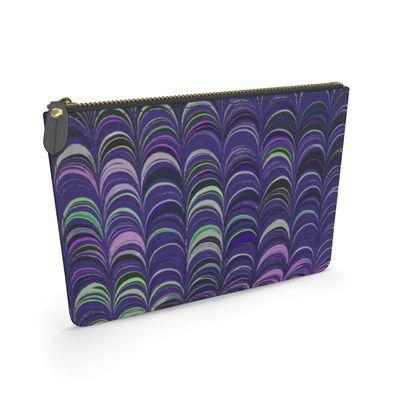 Leather Pouch - Around Ex Libris Purple Remix (1800 -1950)