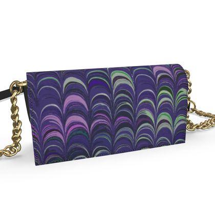 Oana Evening Bag - Around Ex Libris Purple Remix (1800 -1950)