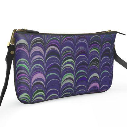 Pochette Double Zip Bag - Around Ex Libris Purple Remix (1800 -1950)