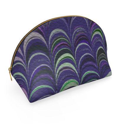Shell Coin Purse - Around Ex Libris Purple Remix (1800 -1950)