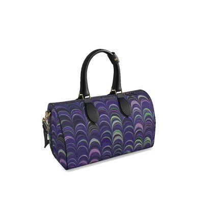 Small Duffle Bag - Around Ex Libris Purple Remix (1800 -1950)