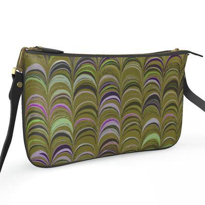 Pochette Double Zip Bag - Around Ex Libris Yellow Remix (1800 -1950)