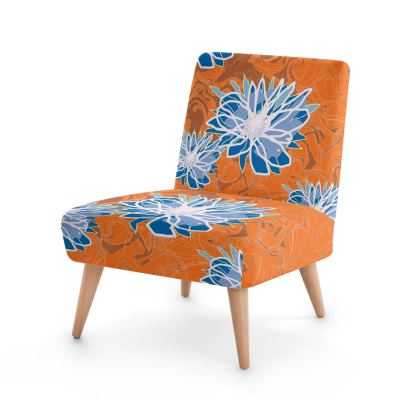 Daisy Luxury Collection (Blue & Tangerine) - Occasional Chair