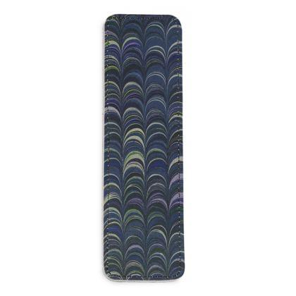 Leather Bookmarks - Around Ex Libris Blue Remix (1800 -1950)