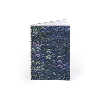 Spiral Note Books - Around Ex Libris Blue Remix (1800 -1950)