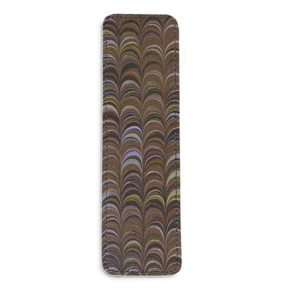 Leather Bookmarks - Around Ex Libris Brown Remix (1800 -1950)