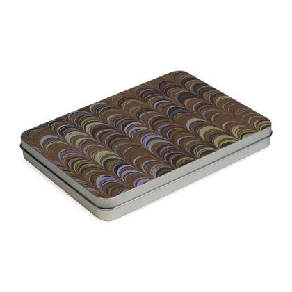 Pencil Case Box - Around Ex Libris Brown Remix (1800 -1950)