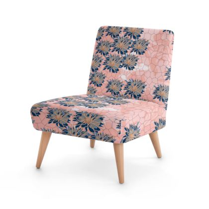 Daisy Luxury Collection (Navy & Pink) - Occasional Chair