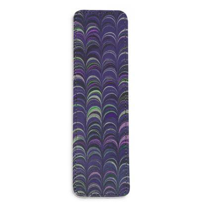 Leather Bookmarks - Around Ex Libris Purple Remix (1800 -1950)