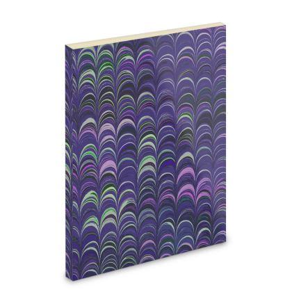 Pocket Note Book - Around Ex Libris Purple Remix (1800 -1950)