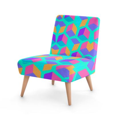Occasional Chair- Emmeline Anne Cubes