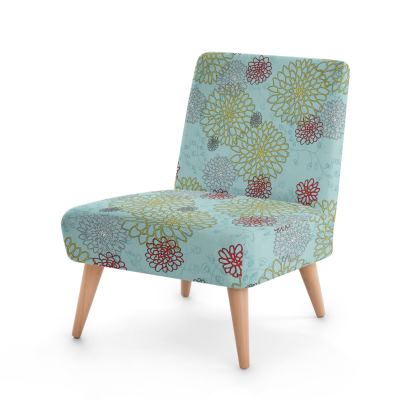 Chrysanthemum Luxury Collection (Blue) - Occasional Chair