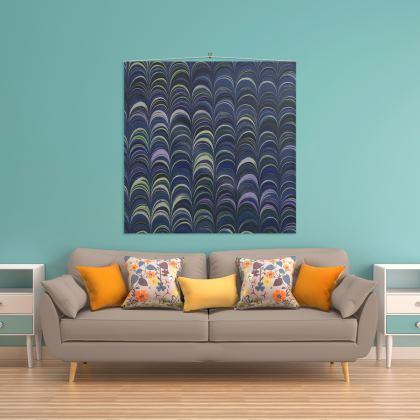 Wall Hanging - Around Ex Libris Blue Remix (1800 -1950)