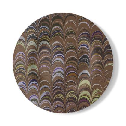 Decorative Plate - Around Ex Libris Brown Remix (1800 -1950)