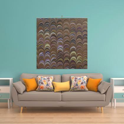 Wall Hanging - Around Ex Libris Brown Remix (1800 -1950)