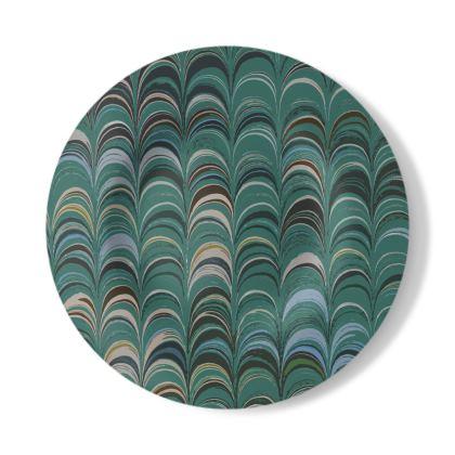 Decorative Plate - Around Ex Libris Jade Remix (1800 -1950)
