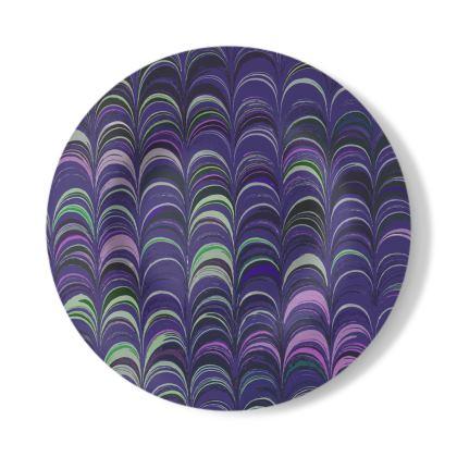 Decorative Plate - Around Ex Libris Purple Remix (1800 -1950)