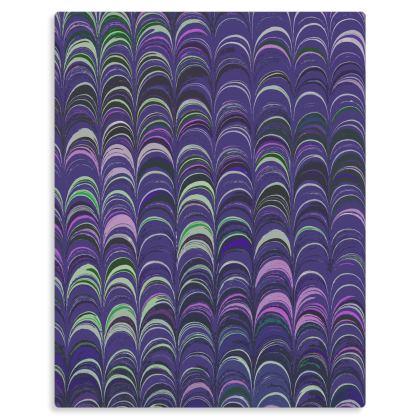 Metal Prints - Around Ex Libris Purple Remix (1800 -1950)