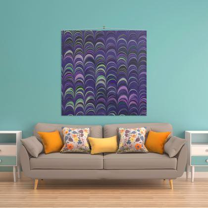 Wall Hanging - Around Ex Libris Purple Remix (1800 -1950)
