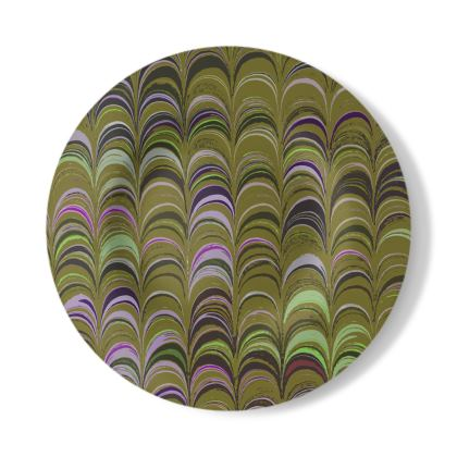 Decorative Plate - Around Ex Libris Yellow Remix (1800 -1950)