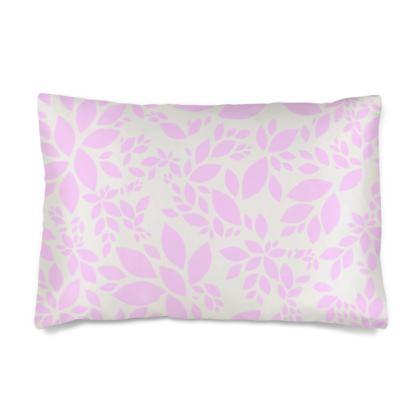 Silk Pillow Case- Emmeline Anne Pink Leaves