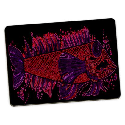 Red & Blue Piscis Placemats