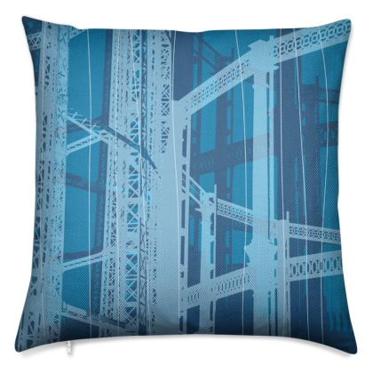 Blues Gasometer Luxury Cushion