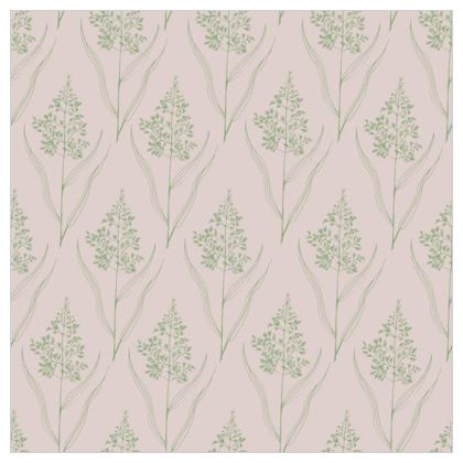 Chrysanthemum Luxury Collection (Green/Pink - Large) - Fabric Printing