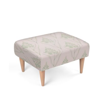 Botanical Luxury Collection (Green/Pink) - Footstool