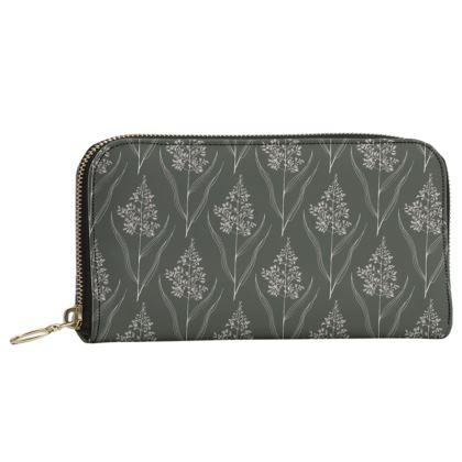 Botanical Luxury Collection - Leather Zip Purse