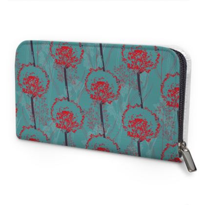 Dandelion Luxury Collection (TEAL) - Leather Zip Purse